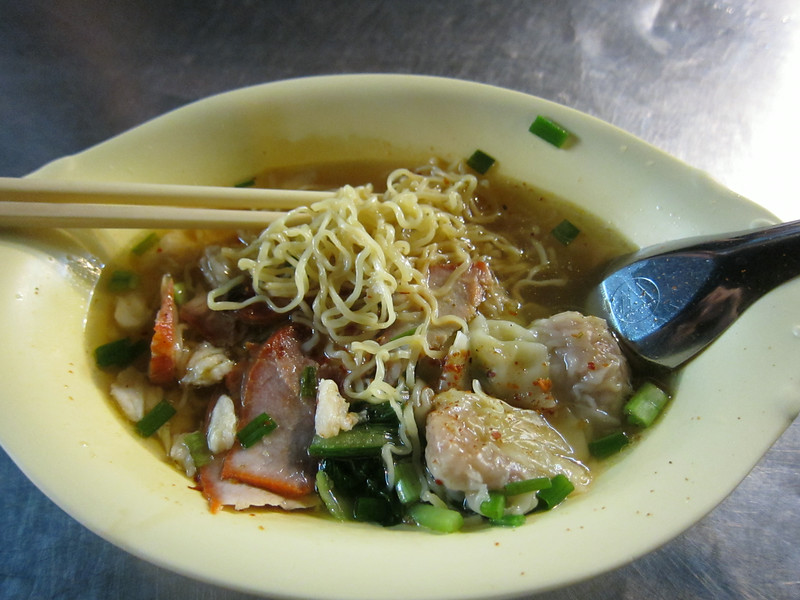 BBQ pork and prawn wonton noodle soup